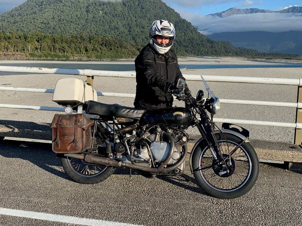 Harvey's Made it to the Bottom on his 1930's HRD Vincent